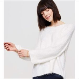 Lou & Grey Eyelash Sweater in White